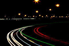 Nachtlichter Stockfoto