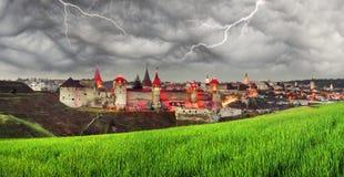 Nachtlichter der Festung Lizenzfreies Stockfoto