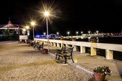 Nachtlichter Schwarzen Meers Lizenzfreies Stockfoto