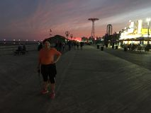 Nachtlichter von Coney Island Stockbilder