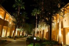 Nachtlichter von südwestlichen Arthotelgebäuden Lizenzfreie Stockbilder