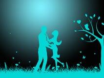 Nachtliebe zeigt mitfühlenden Freund und Mitleid an Stockbild