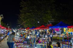 Nachtmarkt in Luang Prabang Royalty-vrije Stock Fotografie