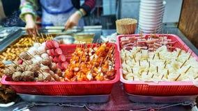 Nachtmarkt Streetfood royalty-vrije stock foto