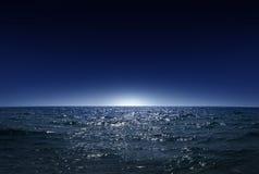 Nachtmeer 1 Lizenzfreie Stockbilder
