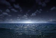 Nachtmeer 1 Lizenzfreie Stockfotografie