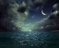 Nachtmeer Lizenzfreies Stockfoto