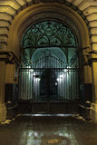 Nachtmegalopolis royalty-vrije stock foto's