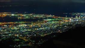 Nachtmening bij de Prefectuur van Nagasaki Stock Afbeelding