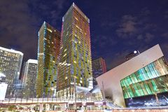 Nachtmening in Las Vegas stock fotografie