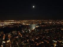 Nachtmening over de Stad van New York van het Empire State Building, 2008 Stock Foto's