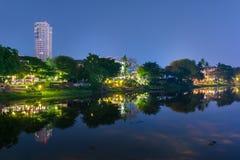 Nachtmening Ping River Chiang Mai Royalty-vrije Stock Foto