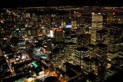 Nachtmening in Toronto de stad in Stock Foto's