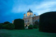 Nachtmening van beroemd Aardmuseum Royalty-vrije Stock Fotografie