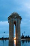Nachtmening van de Baku stad Royalty-vrije Stock Foto's