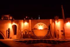 Nachtmening van de Cascade in Yerevan, Armeina royalty-vrije stock afbeeldingen