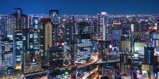 Nachtmening van de stad Stock Foto's