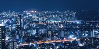 Nachtmening van de stad Royalty-vrije Stock Foto