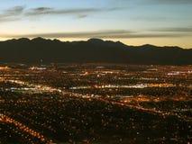Nachtmening van de Stratosfeertoren, Las Vegas, Nevada, de V.S. royalty-vrije stock foto