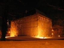 Nachtmening van de toren van het de winterwater Royalty-vrije Stock Fotografie