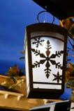 Nachtmening van een zonnelicht Stock Afbeelding