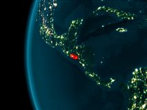 Nachtmening van El Salvador Royalty-vrije Stock Fotografie