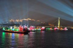 Nachtmening van Guangzhou China royalty-vrije stock afbeelding