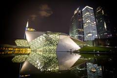 Nachtmening van Guangzhou-Operahuis in China royalty-vrije stock foto