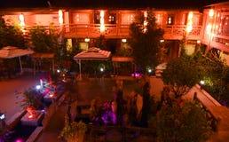 Nachtmening van lijiang shuhe oude stad royalty-vrije stock foto's