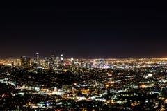 Nachtmening van Los Angeles van Hollywood-Heuvels Royalty-vrije Stock Afbeeldingen
