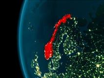 Nachtmening van Noorwegen vector illustratie
