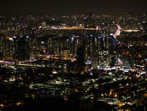 Nachtmening van Seoel Royalty-vrije Stock Fotografie