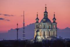 Nachtmening van St. Petersburg Royalty-vrije Stock Afbeeldingen
