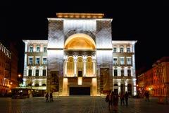 Nachtmening van stadscentrum in Timisoara op 22 Juli, 2014 Royalty-vrije Stock Foto