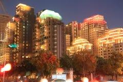 Nachtmening van Taichung-stad Stock Afbeelding