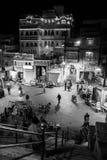 Nachtmening van Udaipur-straat, India Stock Afbeelding