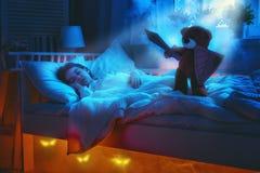 Nachtmerrie voor kinderen stock foto's