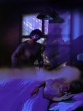 Nachtmerrie of werkelijkheid Stock Foto