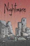 Nachtmerrieillustratie stock illustratie
