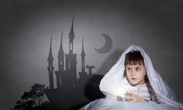 Nachtmerries van kind Royalty-vrije Stock Fotografie