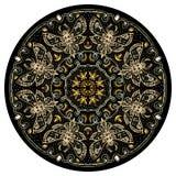 Nachtmotten-goldene Mandala Stockfoto