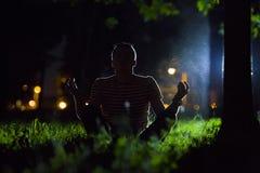 Nachtontspanning Stock Afbeeldingen