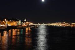 Nachtpanorama Stockbild