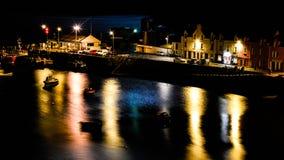 Nachtpanorama in Portree Royalty-vrije Stock Foto's