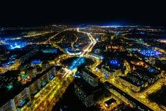 Nachtpanorama von Breslau Lizenzfreies Stockfoto