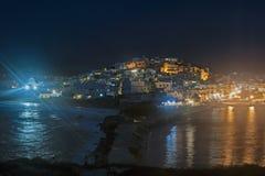 Nachtpanorama zu Naxos-Insel, Griechenland Lizenzfreies Stockbild