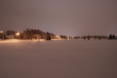 Nachtpark Stockbild
