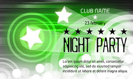 Nachtparteiplakat mit Platz für Text Stockbild