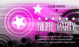 Nachtparteiplakat mit Platz für Text Lizenzfreies Stockfoto