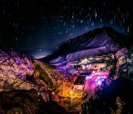 Nachtpartij in Dahab-woestijn royalty-vrije stock foto's